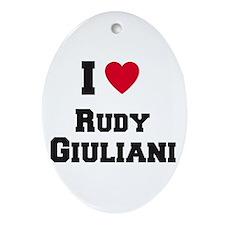 I love RUDY GIULIANI Oval Ornament