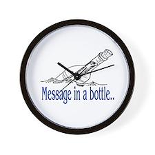 MESSAGE IN A BOTTLE Wall Clock