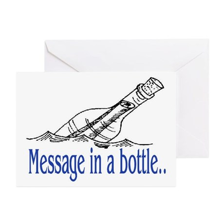 MESSAGE IN A BOTTLE Greeting Cards (Pk of 10)