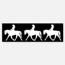 Three Cute Cowgirls Bumper Bumper Bumper Sticker