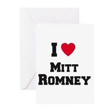I love Mitt Romney Greeting Cards (Pk of 10)