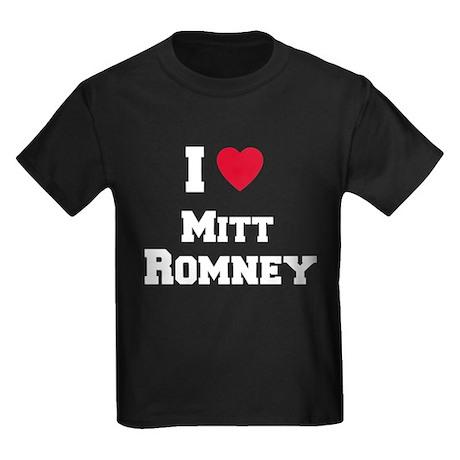 I love Mitt Romney Kids Dark T-Shirt