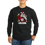 Hoar Family Crest Long Sleeve Dark T-Shirt