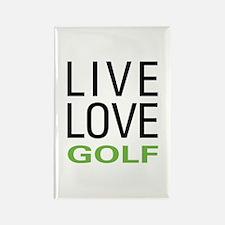 Live Love Golf Rectangle Magnet