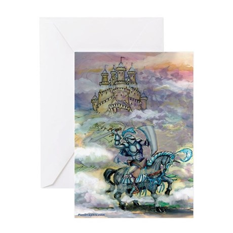 Knight-n-Castle Card Greeting Cards