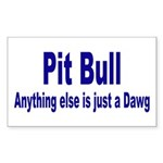 Just Dawg Rectangle Sticker