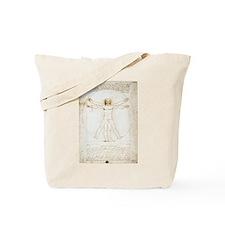 Vitruvian Man Tote Bag