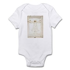 Vitruvian Man Infant Bodysuit