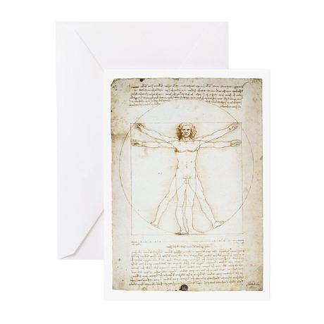 Vitruvian Man Greeting Cards (Pk of 20)