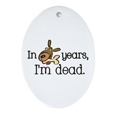 Dog Years Oval Ornament