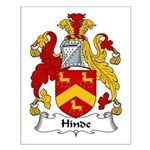 Hinde Family Crest Small Poster