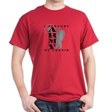 I Support My Cousin 2 - ARMY T-Shirt