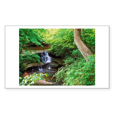 Starved Rock Park Illinois Rectangle Sticker