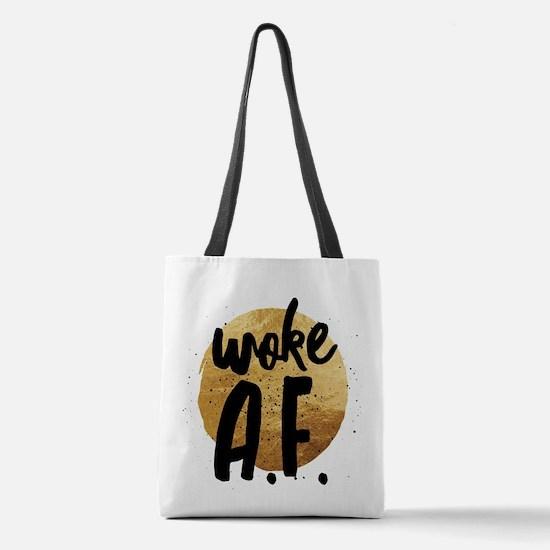 Woke A.F. Polyester Tote Bag