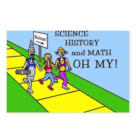 SCIENCE HISTORY & MATH OH MY! Postcards (Package o