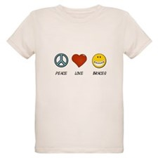 Peace.Love.Braces Organic Kids T-Shirt