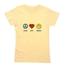 Peace.Love.Braces Girl's Tee