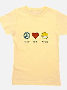Peace.Love.Braces Girl's Tee