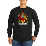 Hinchley Family Crest Long Sleeve Dark T-Shirt