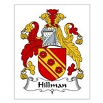 Hillman Family Crest Small Poster