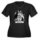 Highmore Family Crest Women's Plus Size V-Neck Dar