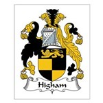 Higham Family Crest Small Poster