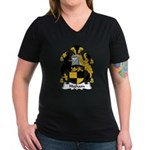 Higham Family Crest Women's V-Neck Dark T-Shirt