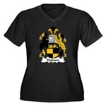 Higham Family Crest Women's Plus Size V-Neck Dark