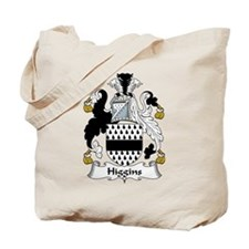 Higgins Family Crest Tote Bag