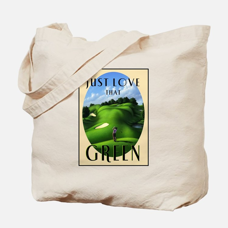 Just Love That Green 3 Tote Bag