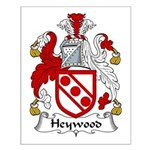 Heywood Family Crest Small Poster