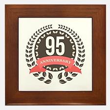 95 Years Anniversary Laurel Badge Framed Tile
