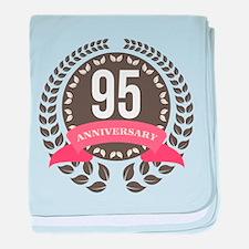 95 Years Anniversary Laurel Badge baby blanket