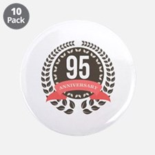 "95 Years Anniversary Laurel 3.5"" Button (10 pack)"