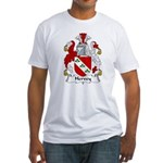 Hervey Family Crest Fitted T-Shirt