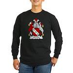 Hervey Family Crest Long Sleeve Dark T-Shirt