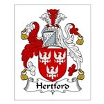 Hertford Family Crest Small Poster