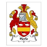 Herle Family Crest Small Poster
