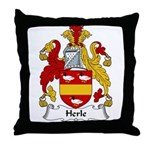 Herle Family Crest Throw Pillow