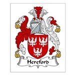 Hereford Family Crest Small Poster