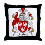 Hereford Family Crest Throw Pillow