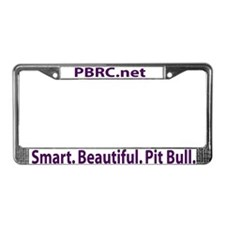 Smart. Beautiful. Pit Bull. License Plate Frame