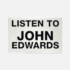 listen to John Edwards Rectangle Magnet