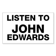 listen to John Edwards Rectangle Decal