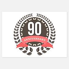 90 Years Anniversary Laurel Bad Invitations