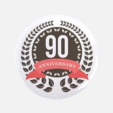 90 Years Anniversary Laurel Badge Button