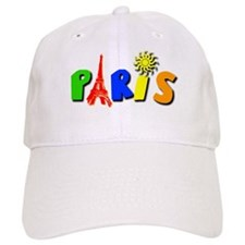 Colorful Paris / Eiffel Tower Baseball Cap