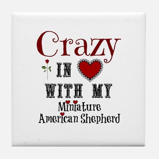 Miniature American Shepherd Tile Coaster