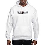 TOP Football Slogan Hooded Sweatshirt