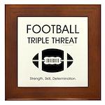 TOP Football Slogan Framed Tile